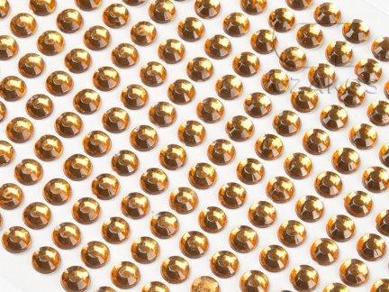 Kryształki samoprzylepne 8mm Bursztyn [10 Blistrów]