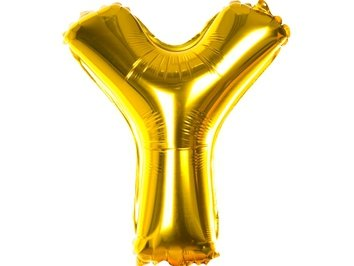 Balony Foliowe Literka Y Złota 40cm - [ Komplet - 20 sztuk]