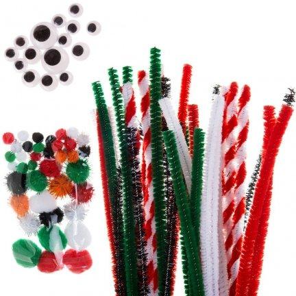 Druciki Kreatywne Mix Świąteczny [Komplet  5 zestawów]
