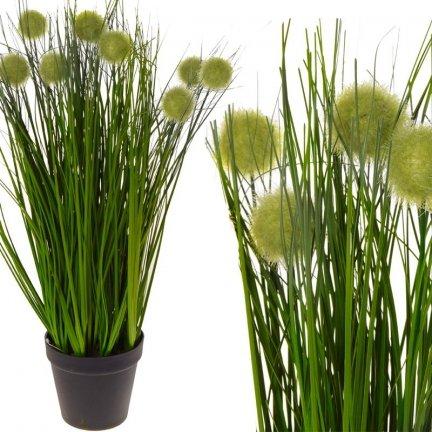 Trawa z Zielonymi Pączkami 60cm [Komplet 2szt]