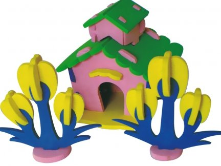 Zestaw Domek 3D Mały 3 [komplet 10 sztuk]