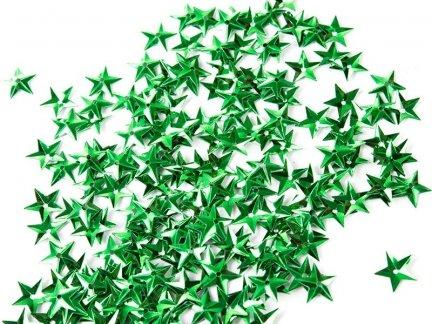 Cekiny Gwiazdki Małe 10mm Zielone - [ Komplet - 20 sztuk]