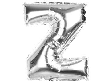Balony Foliowe Literka Z Srebrna 40cm - [ Komplet - 20 sztuk]