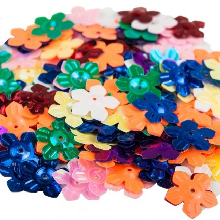 Cekiny Kwiatki Nacinane Mix 2 - [ Komplet - 20 sztuk]