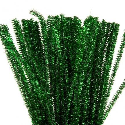 Druciki Kreatywne Metalizowane Zielone [Komplet 5 paczek po 100szt]