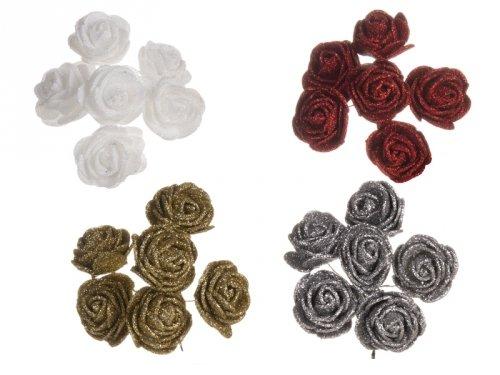Różyczki z Pianki Brokatowe