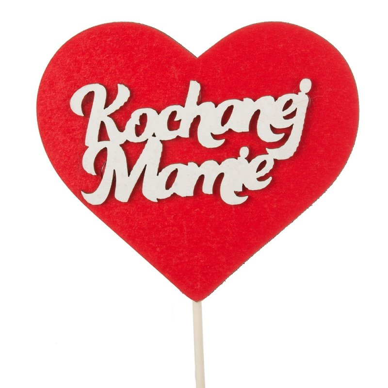 Topper Czerwone Serce Kochanej Mamie