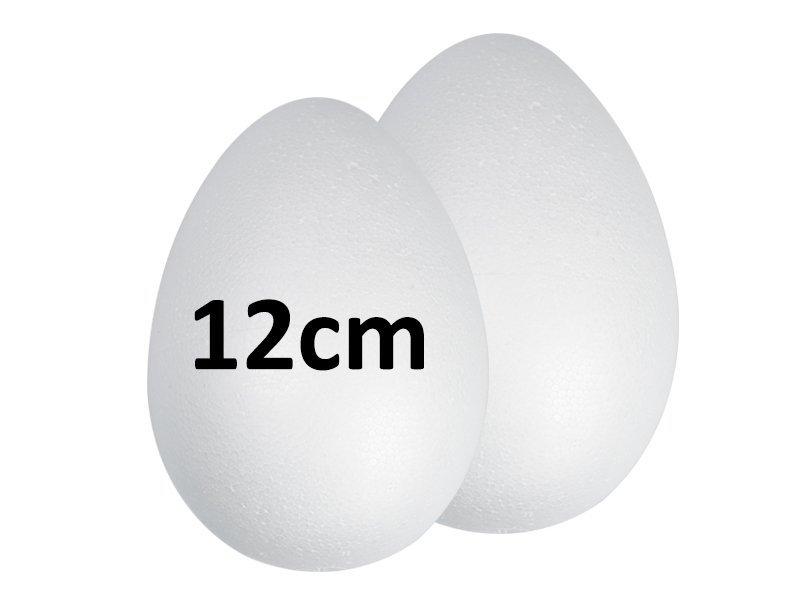 Jajka Styropianowe 12cm [Komplet 100szt]