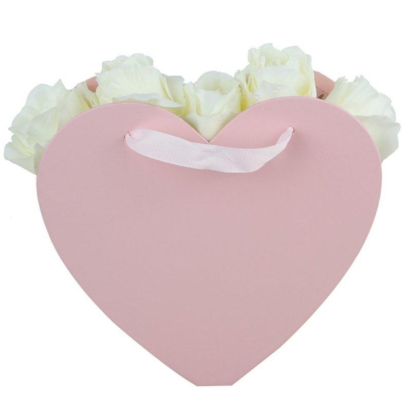 Flower Box Osłonka Serce Różowe Duże 2