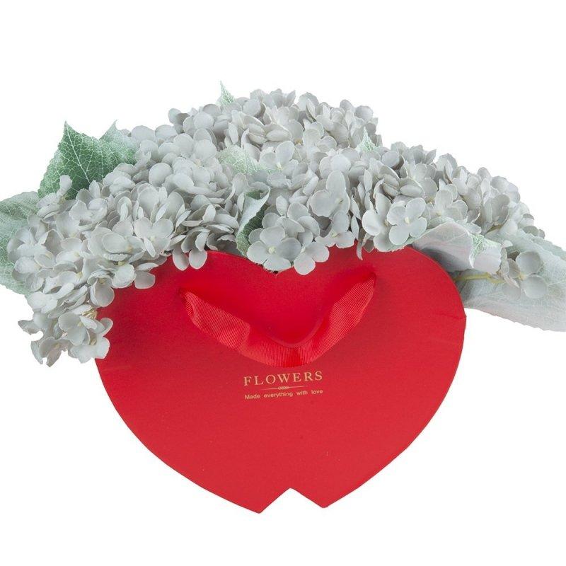 Flower Box Serce Otwarte Czerwone 20cm 2