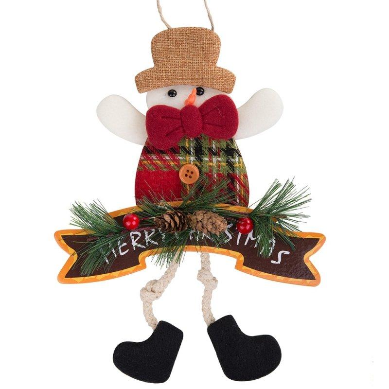 Zawieszka Bałwan Merry Christmas 33cm [Komplet - 5 sztuki]