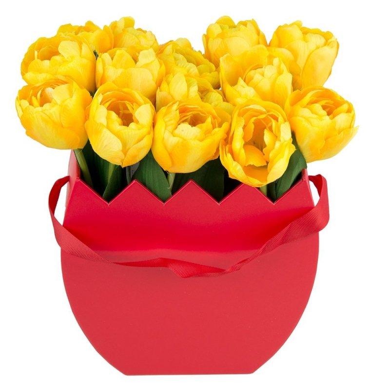 Flower Box Osłonka Czerwona Jajko Duże 2