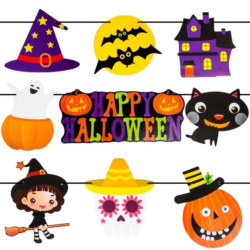 Girlanda Papierowa Halloween Dynie [Komplet - 5szt]