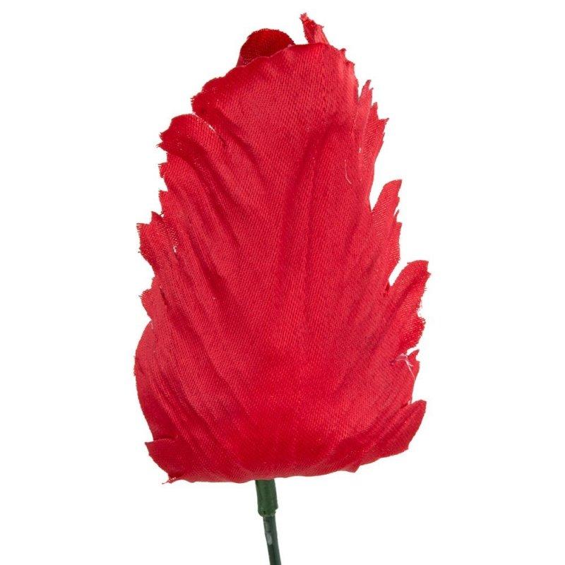 Główka Tulipan Czerwona 9cm [ Komplet 12szt ]
