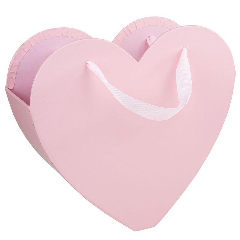 Flower Box Osłonka Serce Różowe Duże 1