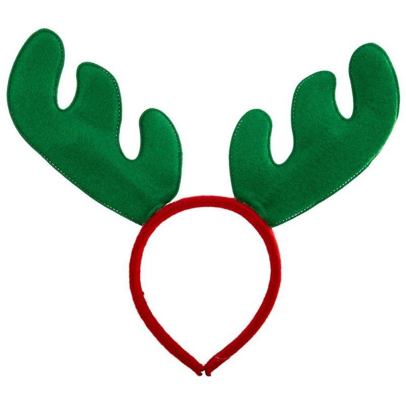 Opaska Świąteczna Renifer Zielony [Komplet 12szt]