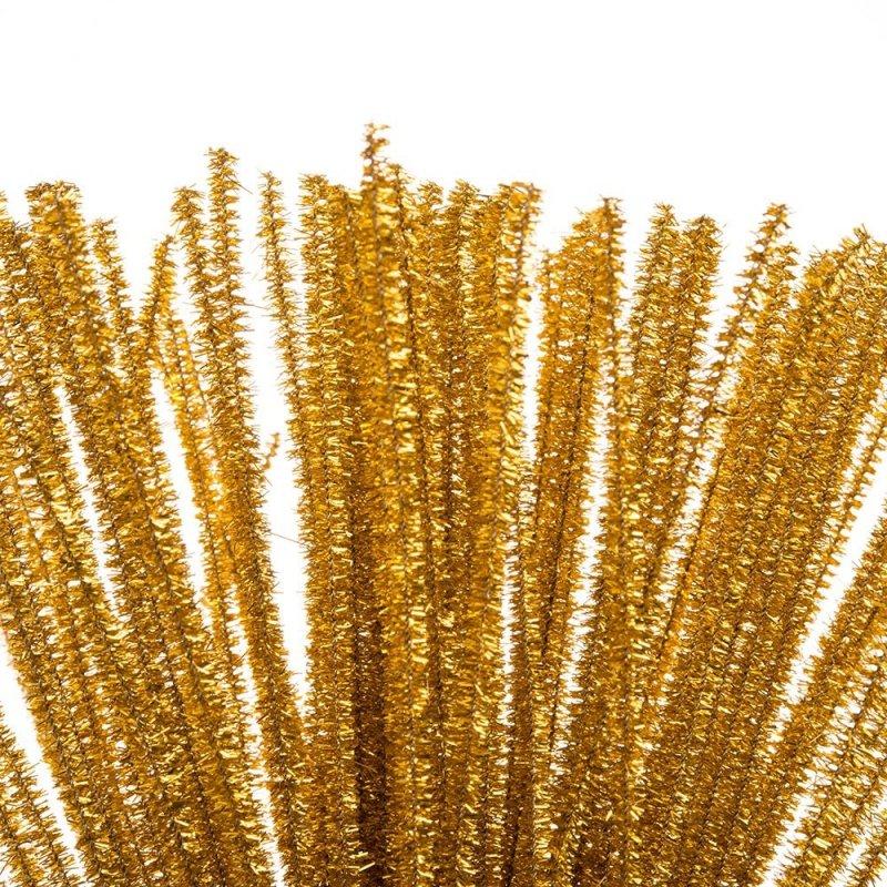 Druciki Kreatywne Metalizowane Złote [Komplet 5 paczek po 100szt]