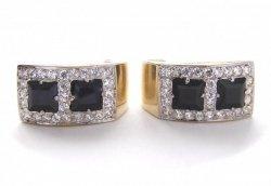 Kolczyki złote 585 na klapkę, zatrzaskowe - ARTES-Kolczyki złote 382 PR. 585