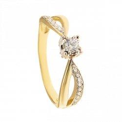 ARTES-Pierścionek złoty zaręczynowy 24H PROMOCJA! BC-125 PR. 375