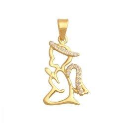 Zawieszka złota 585 Aniołek, Amorek -  27951