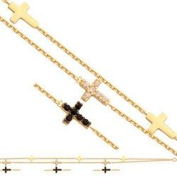 Bransoletka złota, damska 585 - 34970
