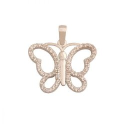 Zawieszka złota 585 motyl, motylek - 36979