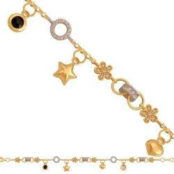 Bransoletka złota, damska 585 - 39471