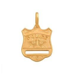 Zawieszka złota 585 odznaka policyjna - 39717