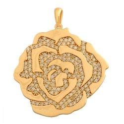 Zawieszka złota 585 róża - 39845