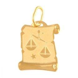 Zawieszka złota 585 znak zodiaku Waga - Zowag