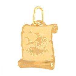 Zawieszka złota 585 znak zodiaku Ryby - Zoryb
