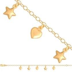 Bransoletka złota, dziecięca dla dzieci 585 - 40937