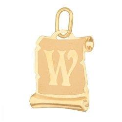 Zawieszka złota 585 litera, literka W -  Lv02w
