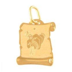Zawieszka złota 585 znak zodiaku Wodnik - Zowod