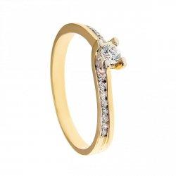 ARTES-Pierścionek złoty zaręczynowy BC-115 PR. 375