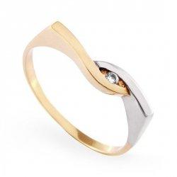 ARTES-Pierścionek złoty zaręczynowy A-81/375