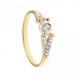 ARTES-Pierścionek złoty zaręczynowy BC-110/375