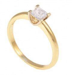 ARTES- Pierścionek złoty zaręczynowy 654/375