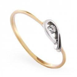 ARTES-Pierścionek złoty zaręczynowy A-38/375