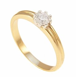 ARTES-Pierścionek złoty zaręczynowy 599/375