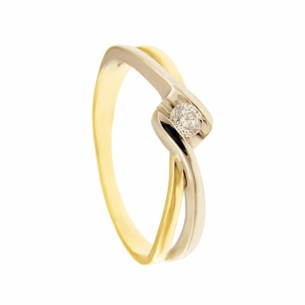 ARTES-Pierścionek złoty zaręczynowy 24H PROMOCJA! BC156/375 PR. 375