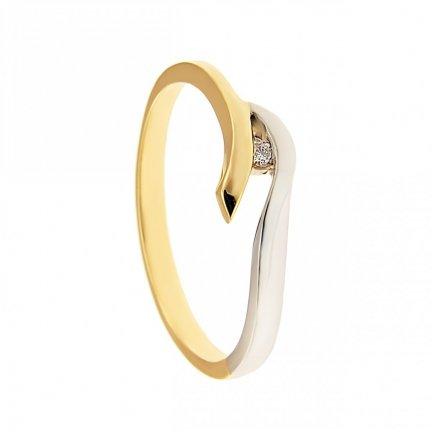 ARTES-Pierścionek złoty zaręczynowy BC-137 PR. 375