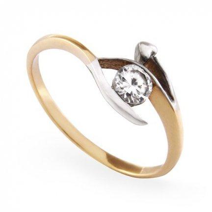ARTES-Pierścionek złoty zaręczynowy A-71/375