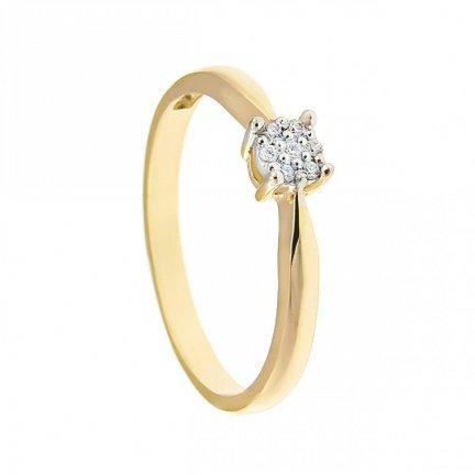 ARTES-Pierścionek złoty zaręczynowy BC-161 PR. 375