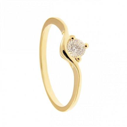 ARTES-Pierścionek złoty zaręczynowy BC-146 PR. 375