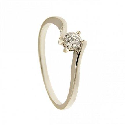 ARTPierścionek złoty zaręczynowy 24H PROMOCJA! białe złotoBC-149 PR. 375