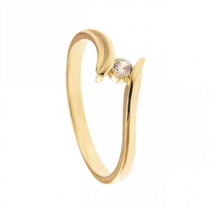 ARTES-Pierścionek złoty zaręczynowy BC-148 PR. 375