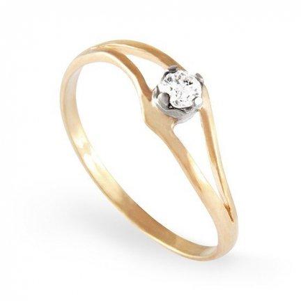 ARTES-Pierścionek złoty zaręczynowy A-105/375
