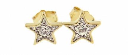 Kolczyki złote gwiazdki 24H PRPOMOCJA! W-K5005
