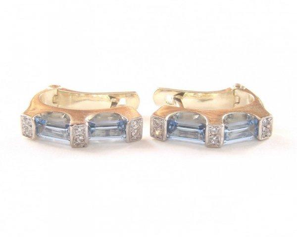 Kolczyki złote 585 na klapkę, zatrzaskowe - ARTES-Kolczyki złote 512 PR. 585